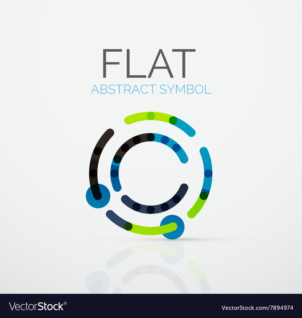 Logo  abstract minimalistic linear flat design vector