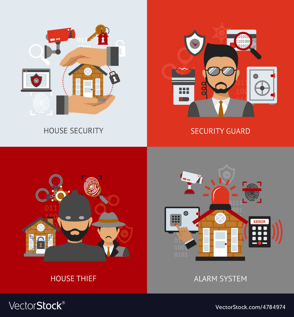 Security design concept vector