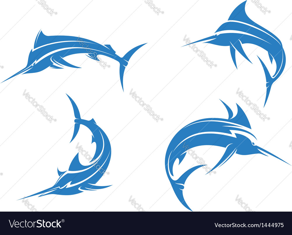 Big blue marlins vector