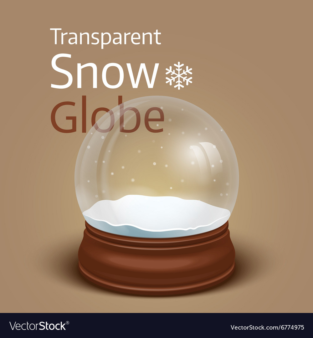 Christmas transparent snow globe vector