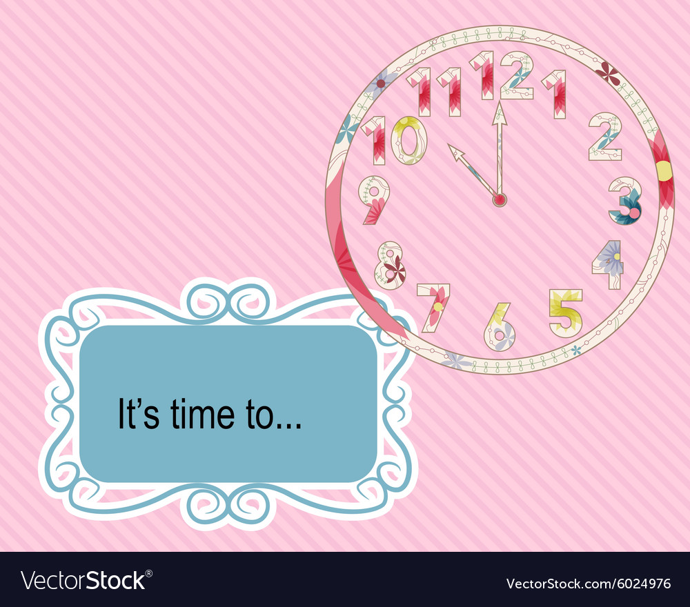 Its time to vintage background vector