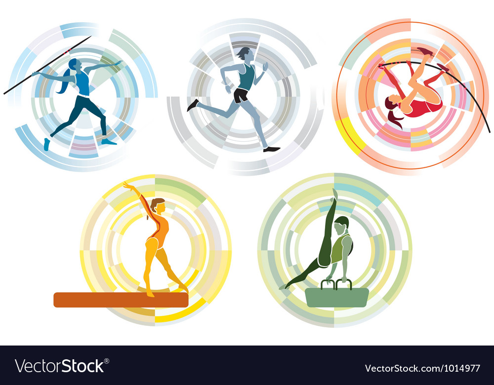 Five sports disciplines copia vector