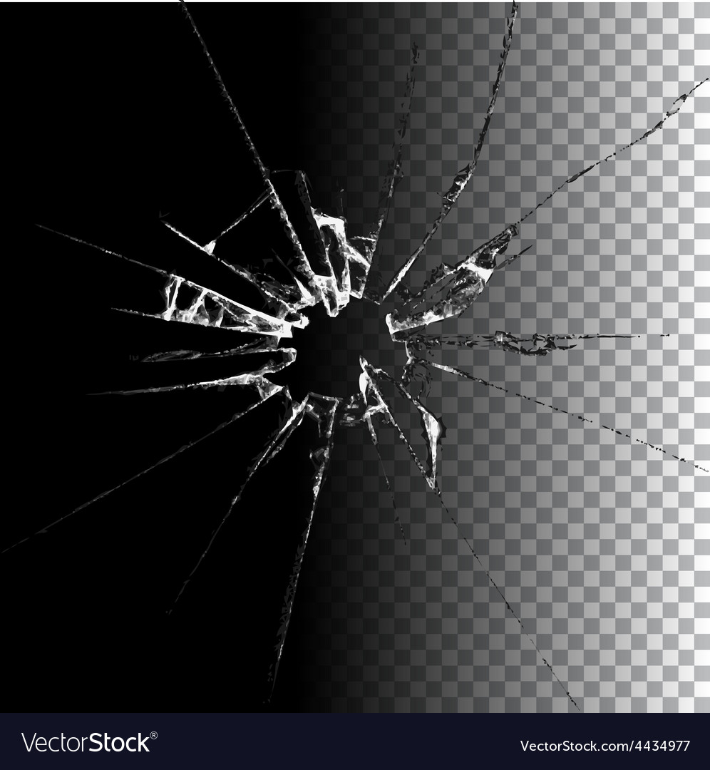 Realistic broken glass vector