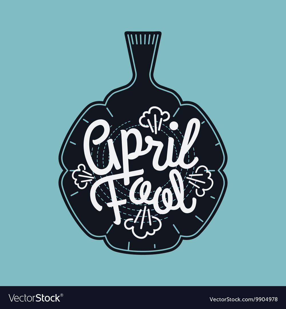 April fool banner vector