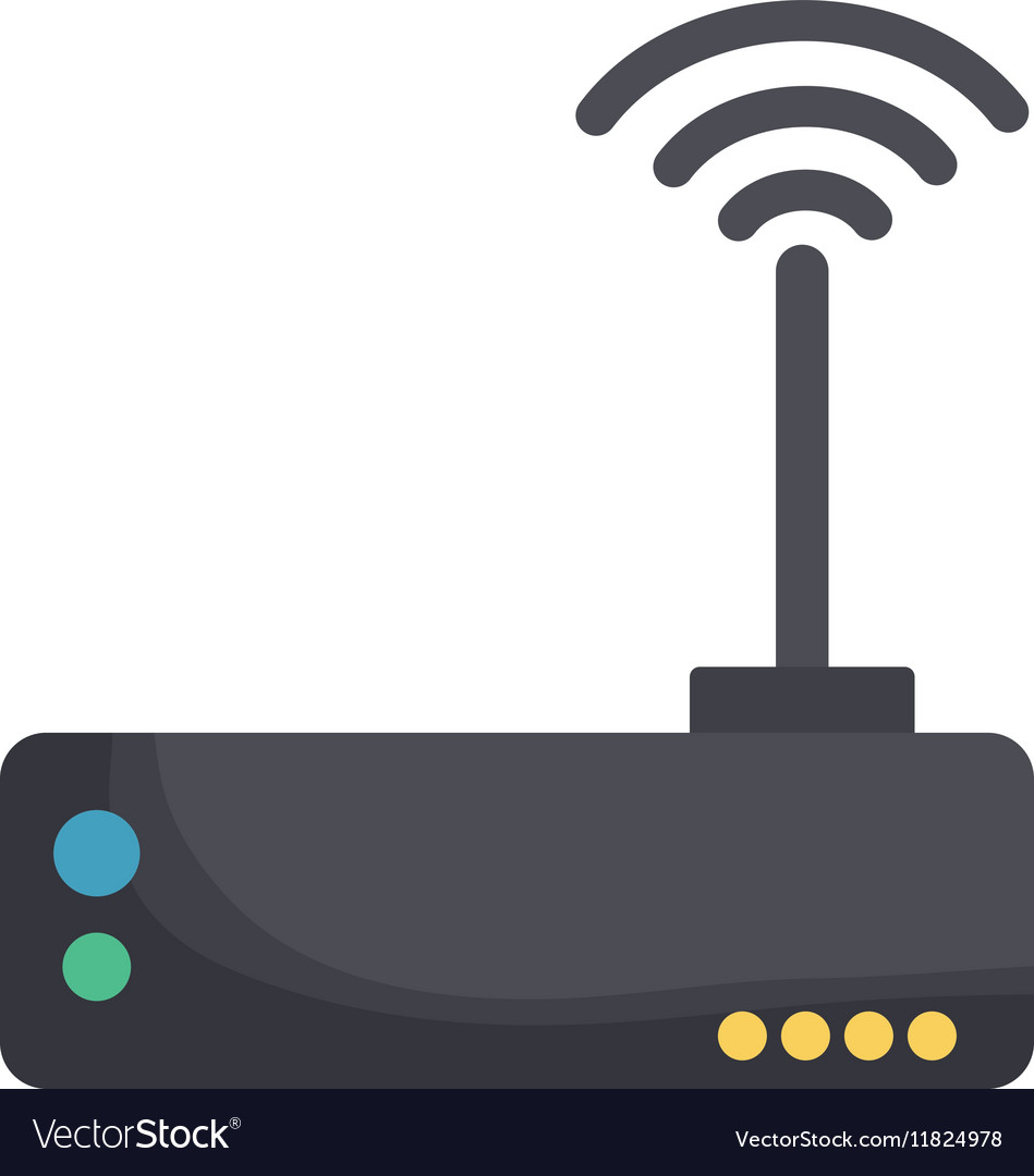 Wifi internet router vector