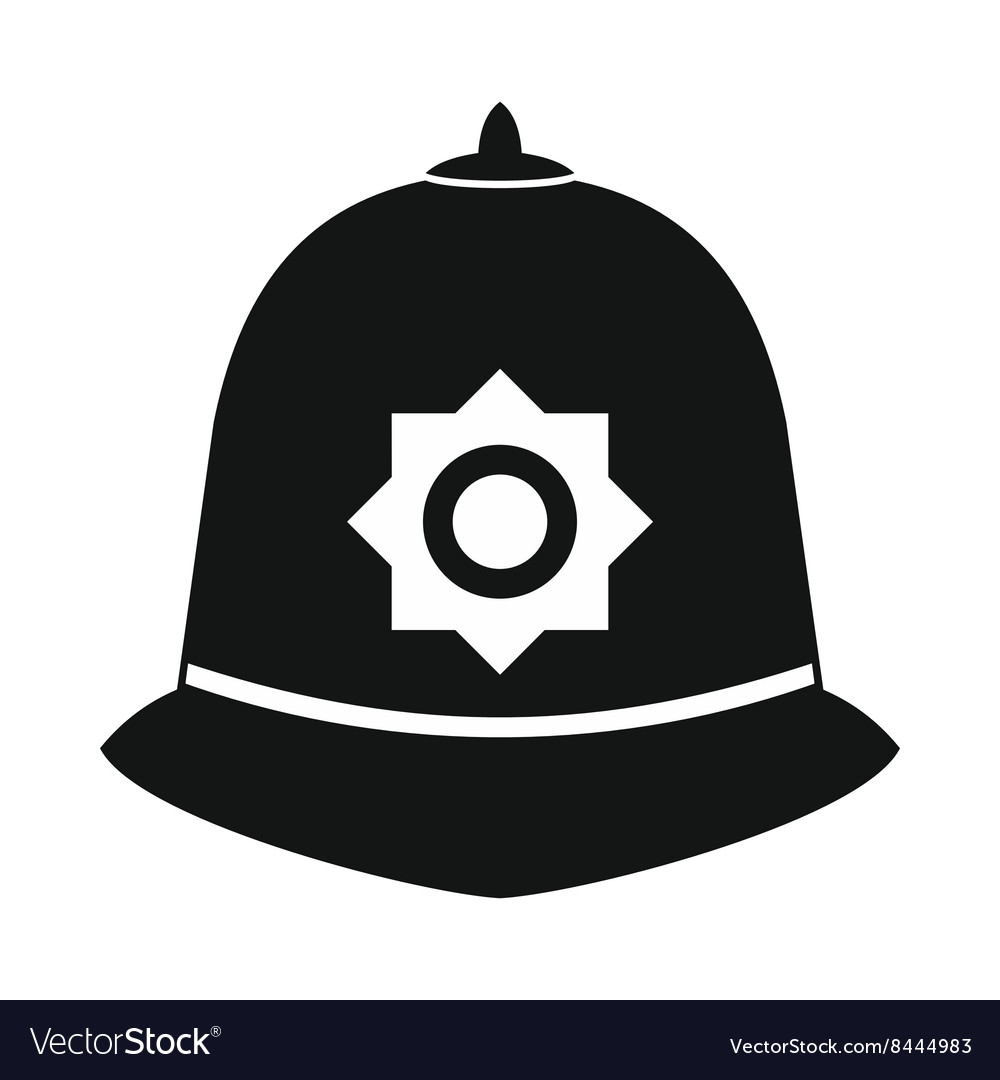 British police helmet icon simple style vector