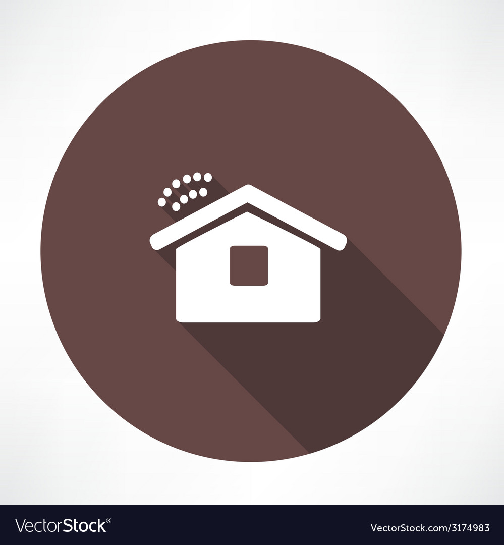 Wi fi in the house icon vector