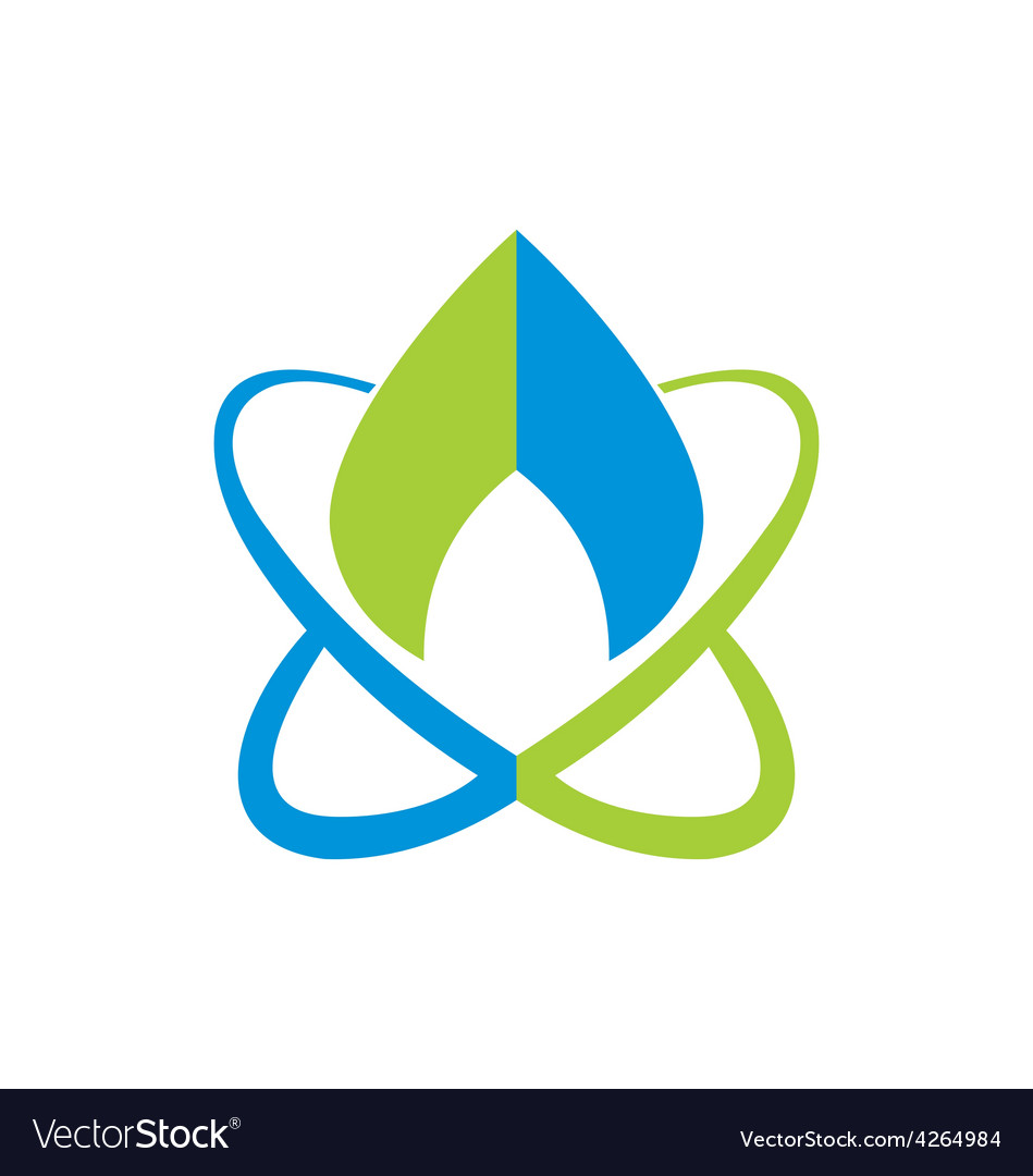 Water planet bio ecology logo vector