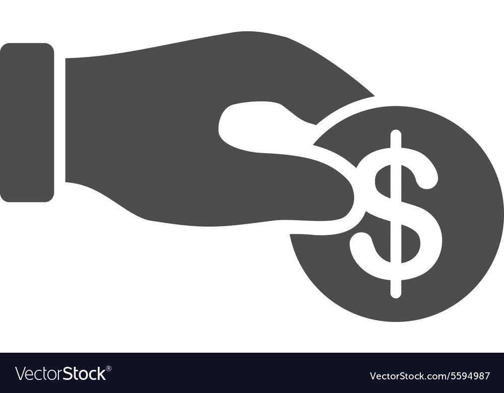 Donation icon from business bicolor set vector