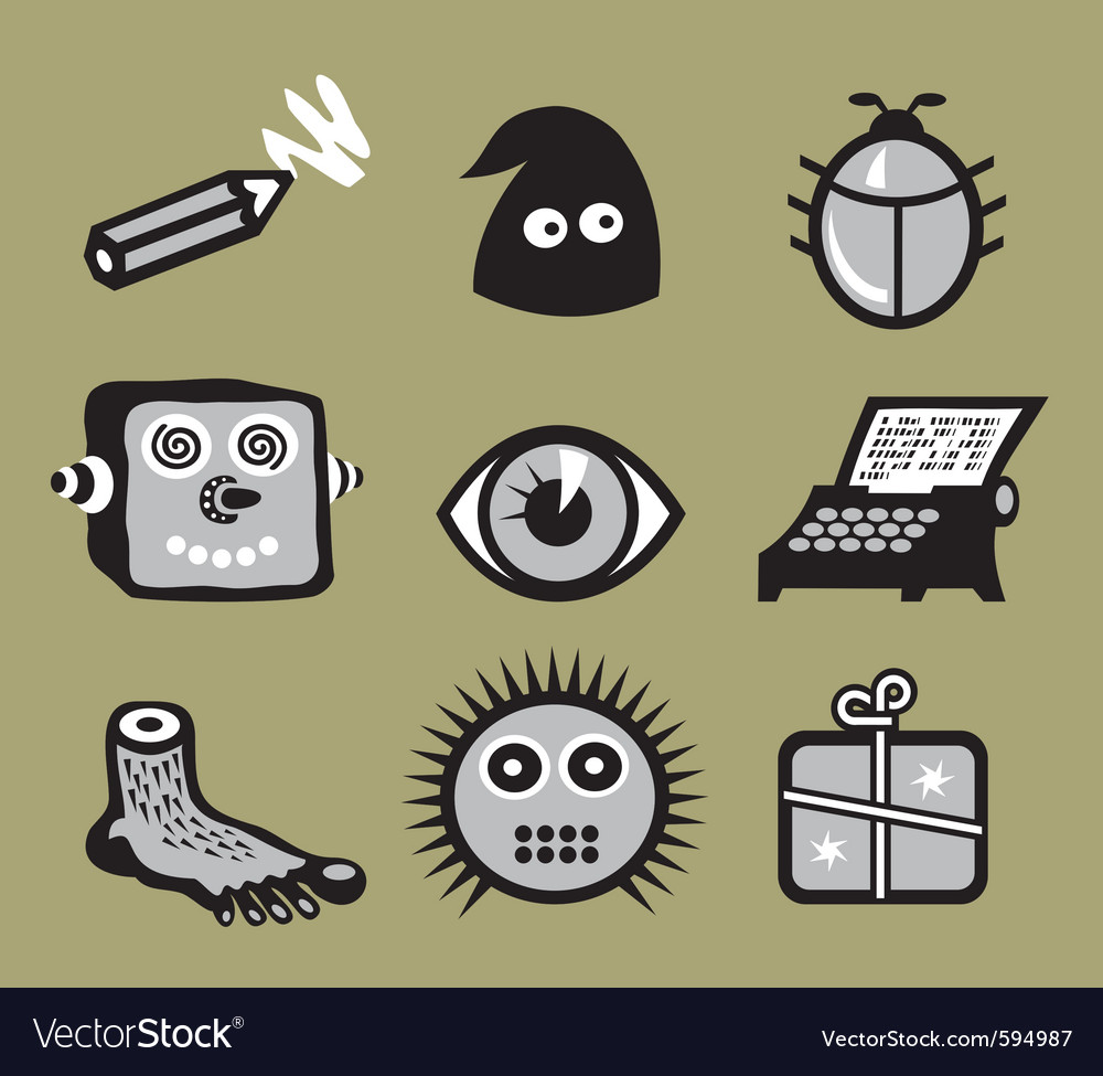 Weirdicons vector