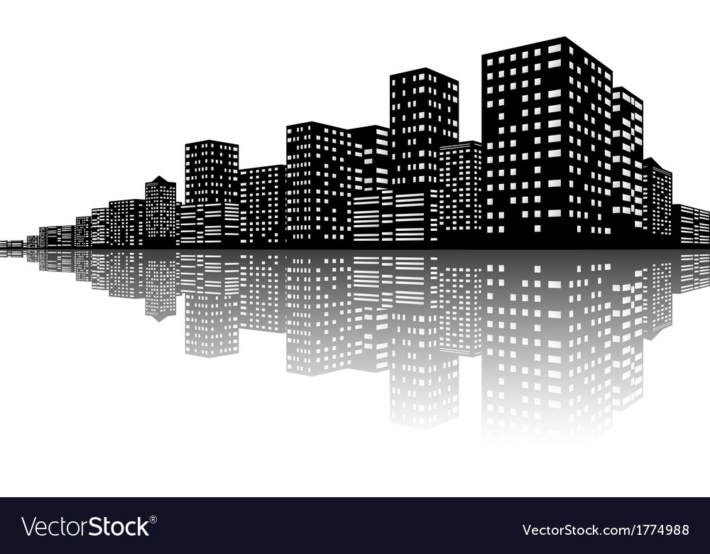City skyline night scenes vector