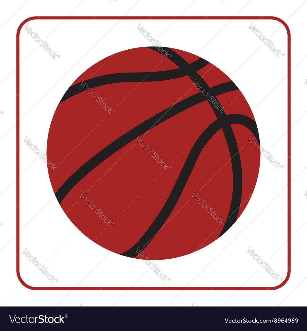 Basketball ball 1 vector