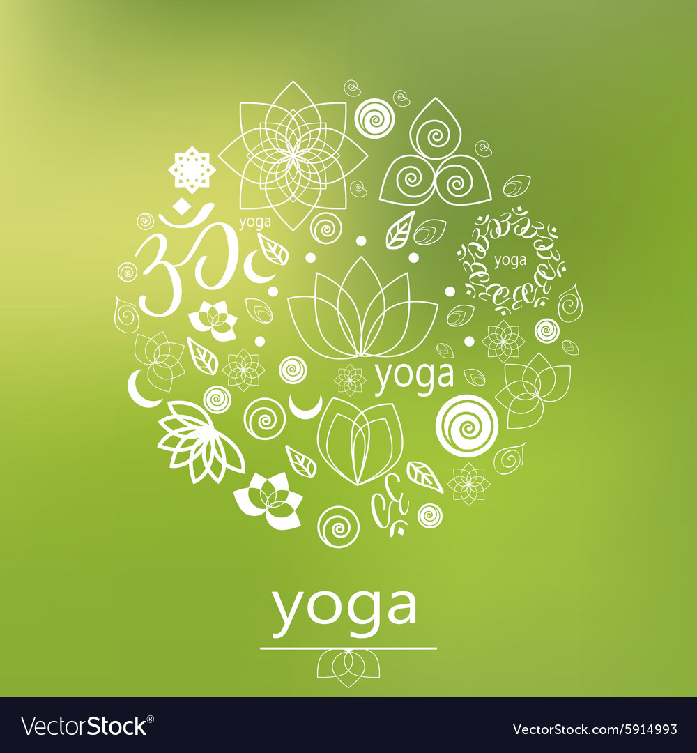 Yoga logo in green vector