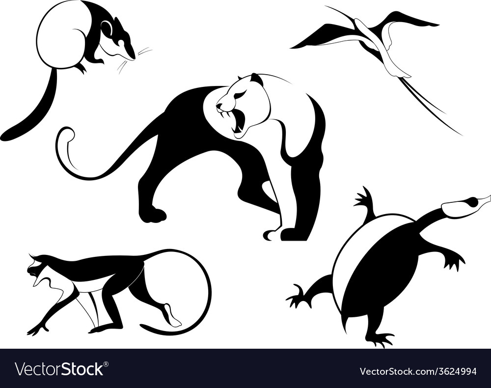 Decor animal silhouette vector