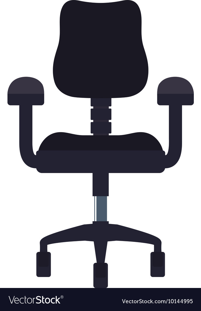Chair seat office work silhouette icon vector