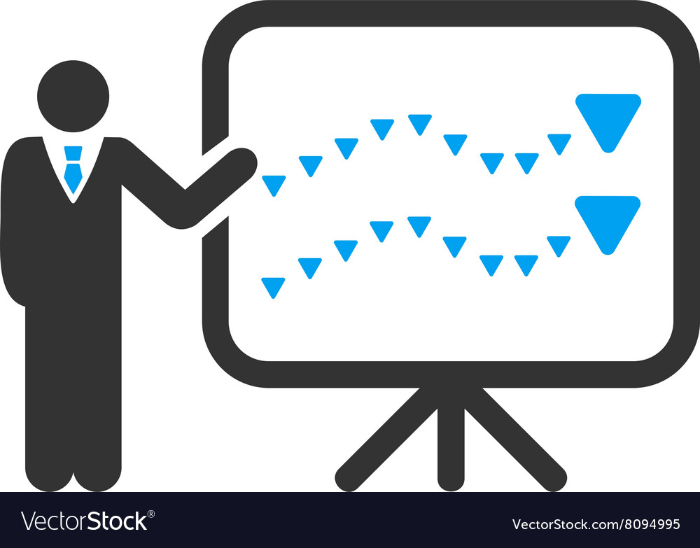 Trends presentation flat symbol vector