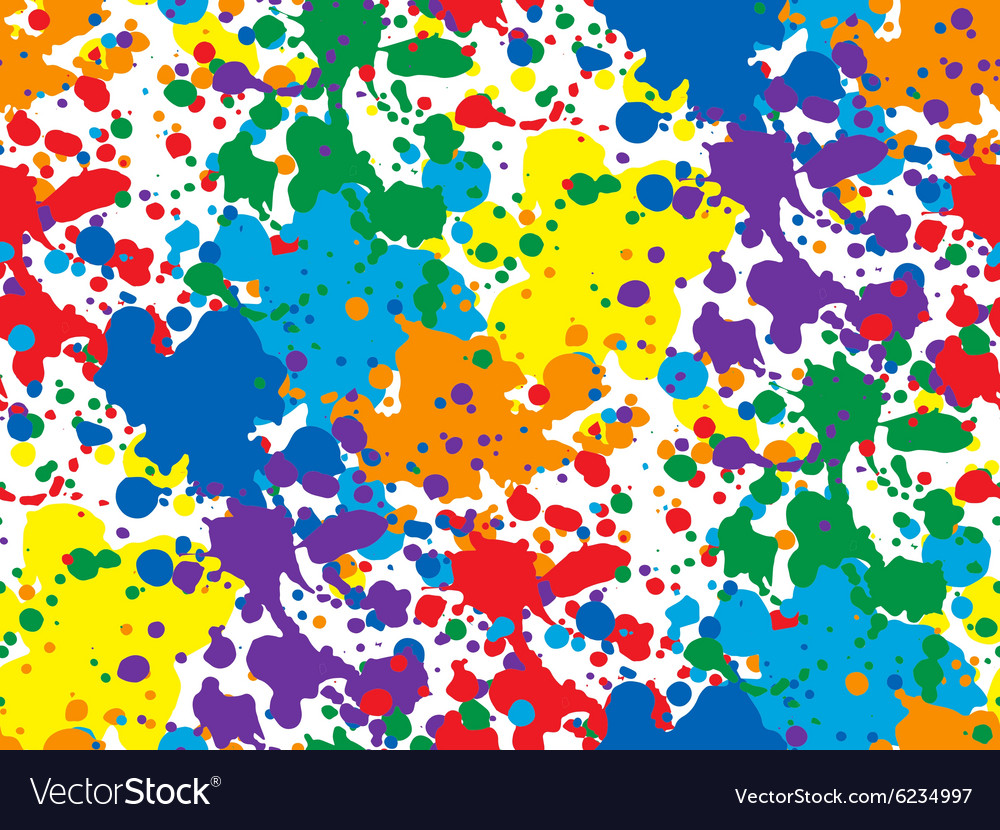 Colorful seamless background with spots and vector