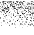 Music background with falling musical notes vector image
