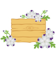 board with flowers vector image vector image
