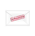 Newsletter rubber stamp vector image vector image