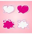 Love speech bubbles vector image
