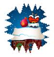 Santa Claus climbs the chimney vector image