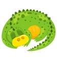 small cartoon dragon vector image