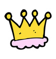 comic cartoon crown symbol vector image