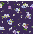 Pansy Flowers Background - Seamless Floral Shabby vector image