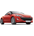 French compact sports coupe vector image