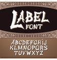label font modern style Whiskey style vector image