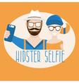 hipster selfie concept flat design vector image