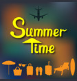 abstract summer background in a blurry sunset and vector image