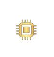 cpu computer symbol vector image