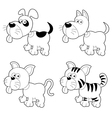 Dog and cat vector image