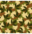 Foliage camouflage seamless pattern vector image