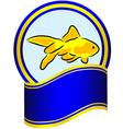 Goldfish label vector image