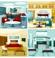 Hotel Interior 2x2 Design Concept vector image