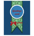 Ornamented round card vector image