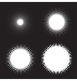 Set of White Sun Icons vector image