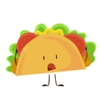 Funny fast food taco icon vector image