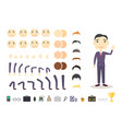 businessman character creation set build your own vector image