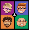 funny face -set 2 vector image