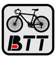 btt sport emblem vector image