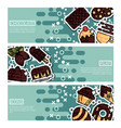 set of horizontal banners about chocolate vector image