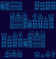 seamless pattern with amsterdam houses outline vector image vector image