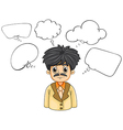 A business-minded person with many empty thoughts vector image vector image