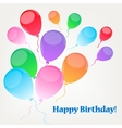 Background with baloons vector image