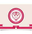 Vintage valentines day labels design element vector image