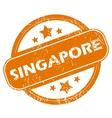 Singapore grunge icon vector image